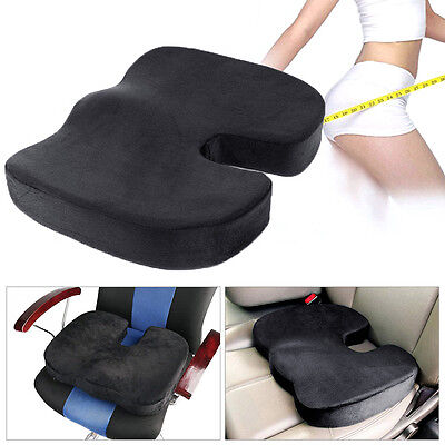 Black Coccyx Orthopedic Memory Foam Office Chair Auto Car Seat Cushion Pad