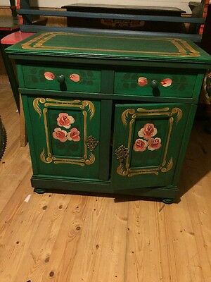 Fine Old Original Painted Kitchen Dining Room Cafe Cupboard Display Delight