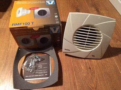 Vectaire RMF100T Ultra Slim Bathroom Extractor Fan With Timer BNIB
