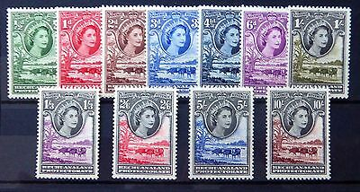 BECHUANALAND 1955 Complete to 10/- SG143-153 U/M FP8313