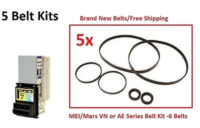 Mars MEI AE and VN Model Bill Validator Belt Kits (5 Kits)