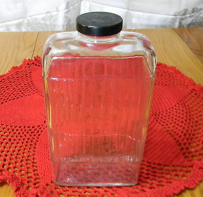 Early Refrigerator One Quart Paneled Water Bottle With Cap - Bottom Mfg Marking