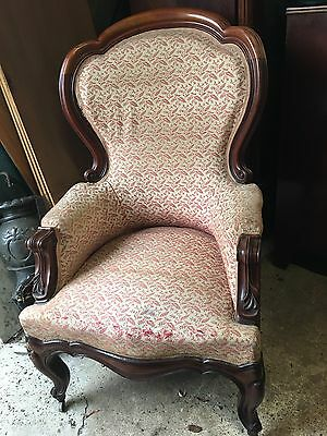 Victorian Armchair Beautiful Show Wood Frame