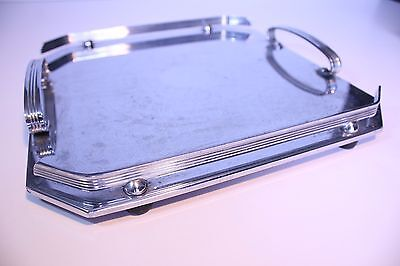 Vintage Ranleigh Square Silverware Stainless Serving Tray