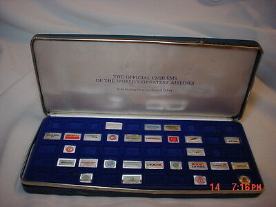 Silver Ingots Emblems Of The World's Greatest Airlines 925 silver