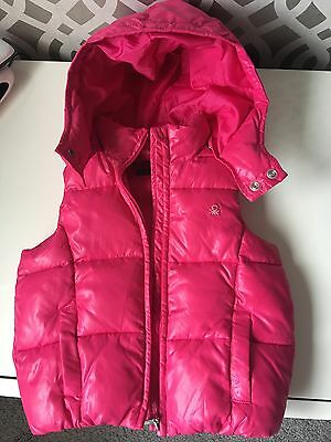 Girls Benetton Body Warmer. Size xxs (Approx. Age 3-4)