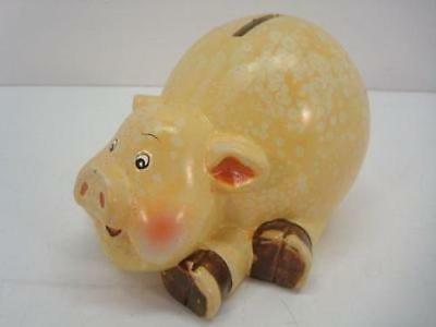 Clay Painted Coin Piggy Bank