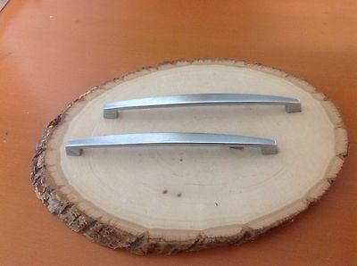 603 VTG  Large slim  MidCentury  Handles In A Stainless Steel. Set Of 2