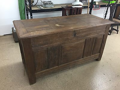 Early French Wooden Coffer / Chest *DELIVERY AVAILABLE