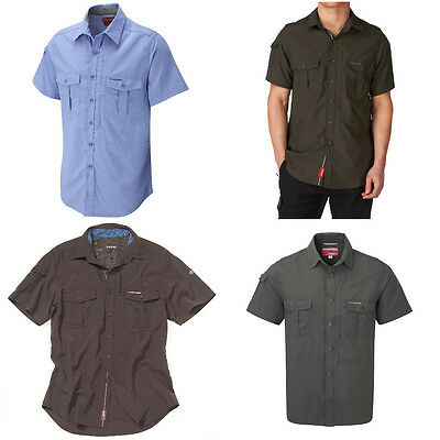 Craghoppers NosiLife Men's Insect Repellent Short Sleeve Shirt Top Gift Travel