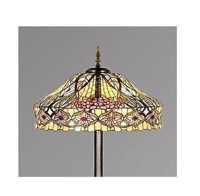 Tiffany Style Floral Stained Glass Handcrafted Floor Lamp (Stunning Quality )