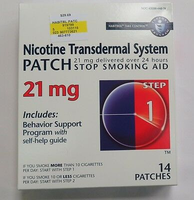 NICOTINE TRANSDERMAL SYSTEM STEP 1, (14) patches @ 21mg EXP 01.2018