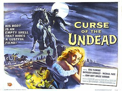 """Curse of the Undead 16"""" x 12"""" Reproduction Movie Poster Photograph"""