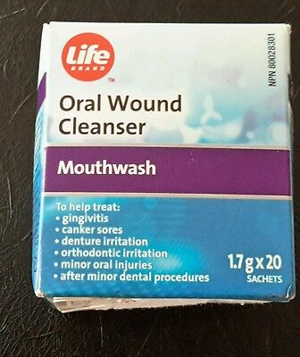 Life brand oral wound cleanser- amosan 1.7 g x 20 sachets