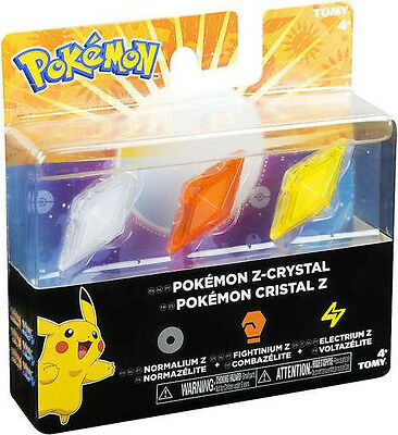 Pokemon Z Ring Crystals 3 Pack Assortment (release date 18/11/2016)