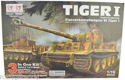 RC Radio Remote Control Self Assembly Taigen Tiger 1 Tank - with Transmitter