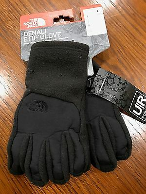 The North Face Boys Denali Etip Gloves TNF Black NWT