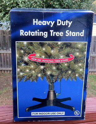 Heavy Duty Rotating Artificial Christmas Tree Stand-Up to 80LBS-New Open Box