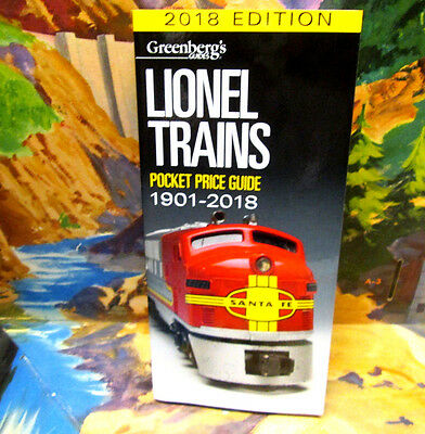 2018 Lionel Price Guide,.... By Greenberg's,.... Mint!...now In Stock!......v821