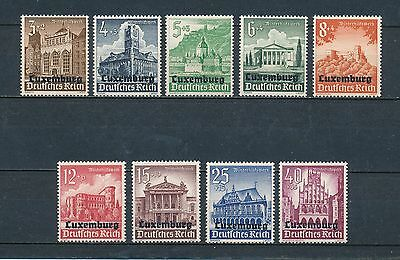 Luxembourg  NB1-9 mint, German Occupation Set