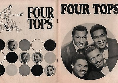 Four Tops 1966 U.s. Tour Concert Program Book