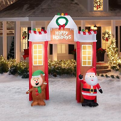 "10'6"" Gingerbread Archway Christmas Inflatable Airblown Outdoor Christmas Decor"