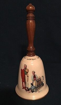 """Norman Rockwell Gorham China """"Chilly Reception"""" Collector's Bell 1980"""