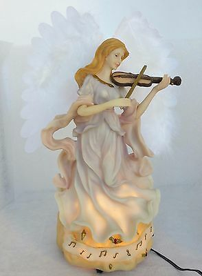 Fiber Optic New Musical Christmas Angel Moving Wings Table Centerpiece 8 Songs