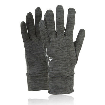 Ronhill Victory Mens Womens Grey Winter Warm Outdoors Running Gloves