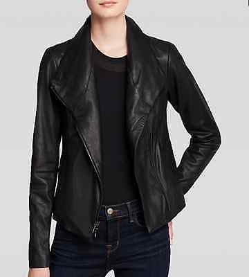 a699be513 VINCE LEATHER SCUBA Jacket $995 Gray Small