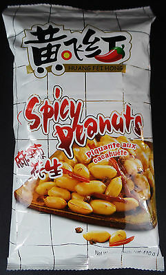 Family Size Manufacture Sealed Huang FeiHong Spicy & Crispy Peanuts 410g/14.5 OZ