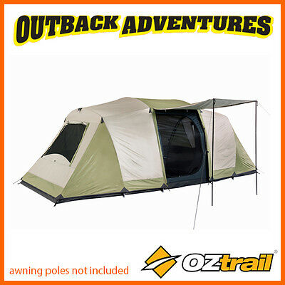 Oztrail Seascape 10P Dome Tent Family Camping (3 Room) 10 Person New 2016 Model