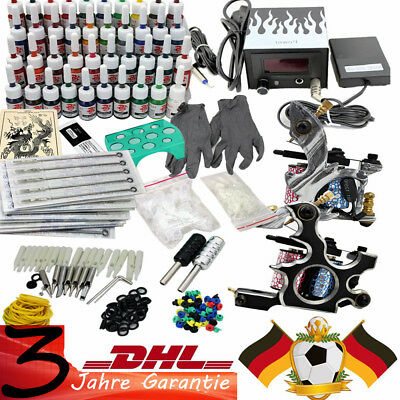 Komplett Tattoomaschine Set Machine Stigma 40 Farben/Ink Tattoo Kit Gun 50 Nadel