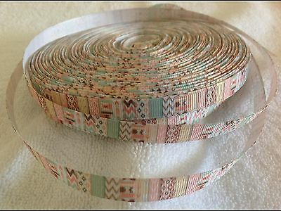 9mm Chevron Grosgrain  Ribbon  3 Meters Length  HairBows Craft Scrapbook
