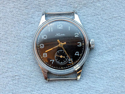 USSR MADE 1958 Wrist watch KAMA. serviced oiled runs well.