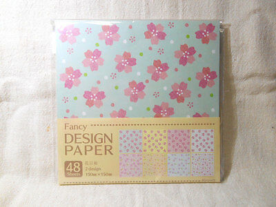 Japanese Paper Origami Design Paper Brand-New 8 Pattern 48 sheets JAPAN LIMITED