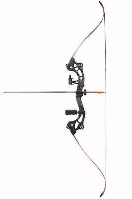61.5'' Black Classic Bow 30-45 lbs for Archery and Hunting with Arrow Rest