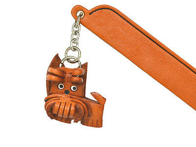 Cairn terrier Leather dog Charm Bookmarker *VANCA* Made in Japan #61714