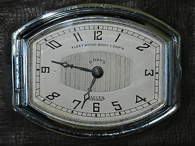 Montre de voiture JAEGER  8 day .Cadillac car watch . FLEETWOOD BODY CORP'N