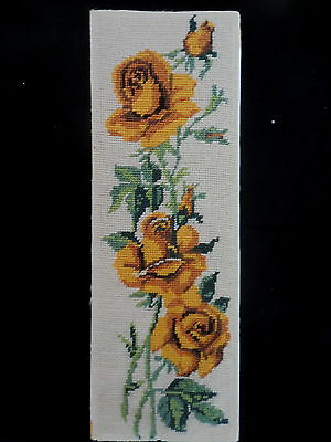 Tapestry Flowers  Completed On Board  Unframed Yellow Roses