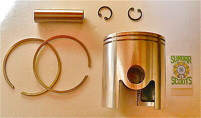 200 cc 66mm.  PISTON SET & 2 X 1.5 mm RINGS. SUITABLE FOR LAMBRETTA SCOOTERS