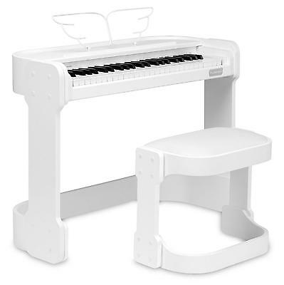 Piano Nmuerique Clavier Keyboard Set Debutants Banc Pedal Casques Usb Aux Blanc