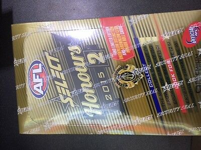 AFL Select Honours Cards 2015 Sealed Pack Box of 36 cards.