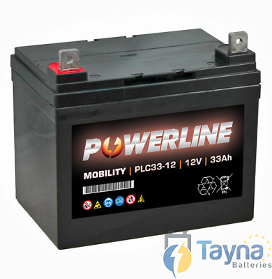 Powerline 12V 33Ah BATTERIE DE REMPLACEMENT ULTRA SHOPRIDER CADIZ