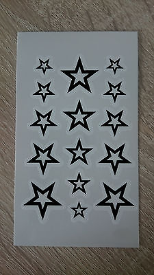 10x6cm Sheet-High-Quality-Fake-Tattoo-Stars-Waterproof-Temporary-Body-Art