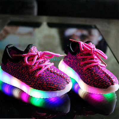 LED Kids Children Boys Girls Light Up Sneakers Babies Luminous Shoes Trainers