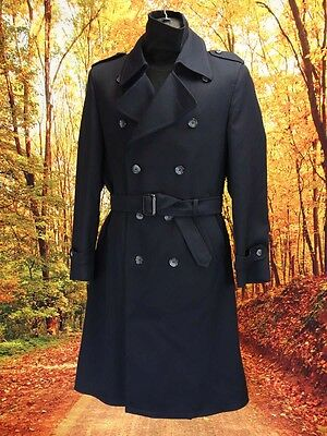 Trench coat overcoat rain duster mac boho vintage 1960s 60s Size M  (MV070)