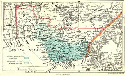 NIGERIA. South 1911 old antique vintage map plan chart