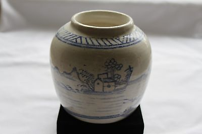 Antique 18th Century Chinese Blue and White Ginger Jar Circa 1770
