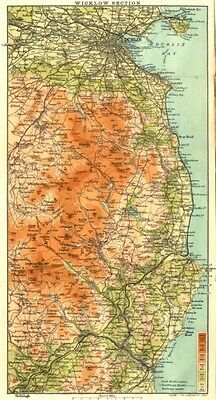 IRELAND. Wicklow Section 1906 old antique vintage map plan chart